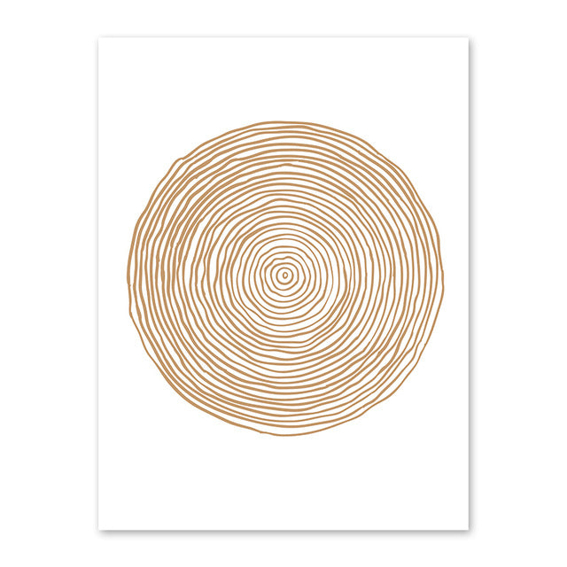 Minimalist Geometric Abstract Circle Canvas Prints-Heart N' Soul Home