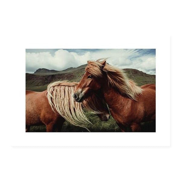 Desert And Horses Canvas Prints-Heart N' Soul Home