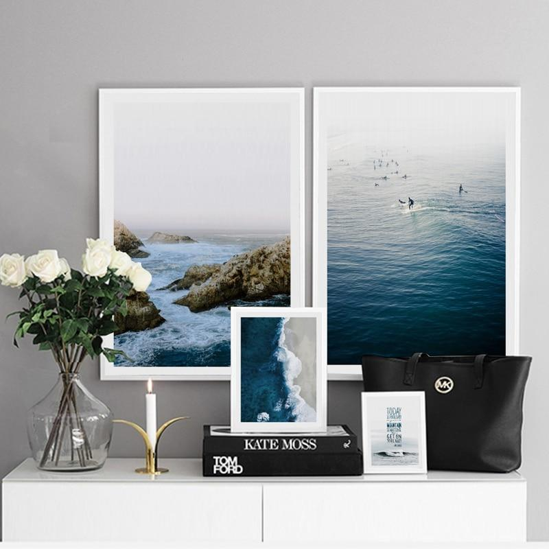 Deep Blue Ocean Canvas Prints-Heart N' Soul Home