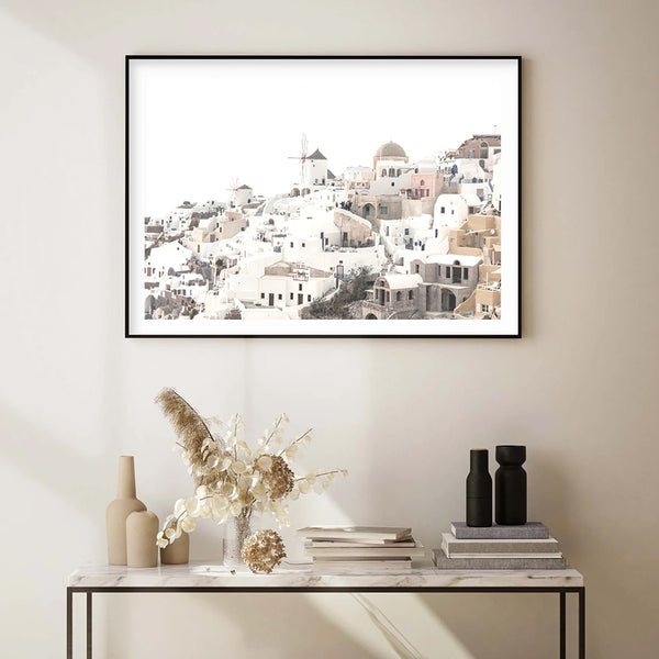 Sunset In Village Oia Canvas Print-Heart N' Soul Home