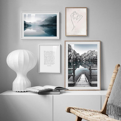 Mountain And Lake Art Prints-Heart N' Soul Home