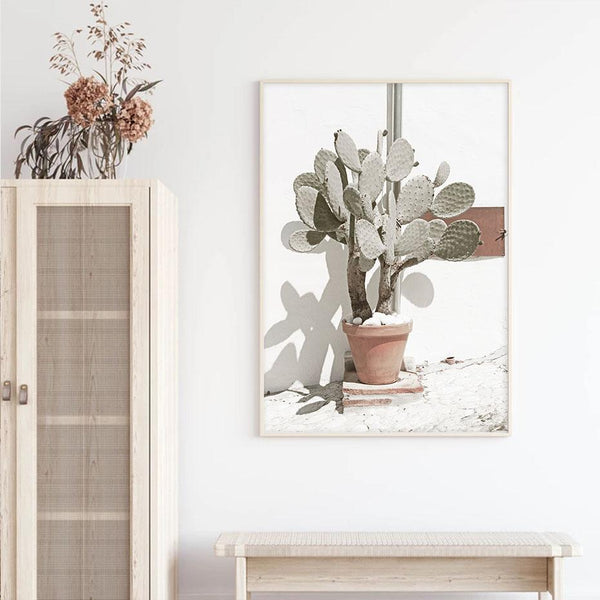 Tropical Cactus Botanical Canvas Prints-Heart N' Soul Home