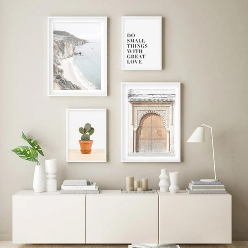 Beige Ancient Gate and Ocean Canvas Canvas Prints-Heart N' Soul Home