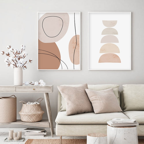 Lorelei Abstract Geometric Art Prints-Heart N' Soul Home