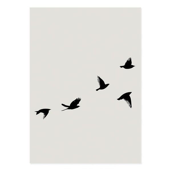 Beige Flying In The Wind Canvas Art Prints