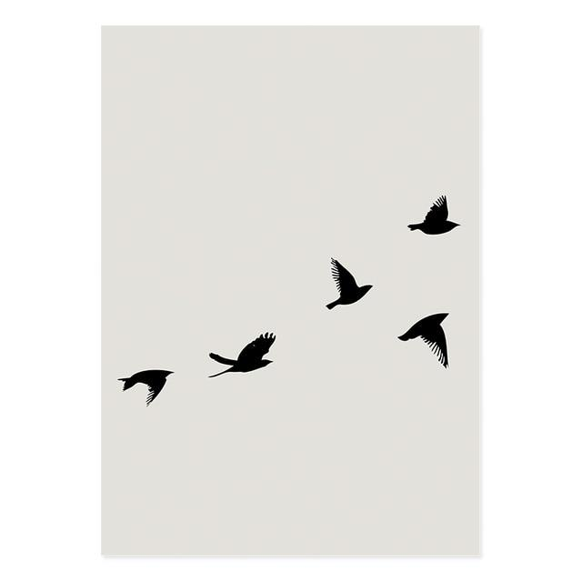 Beige Flying In The Wind Canvas Art Print