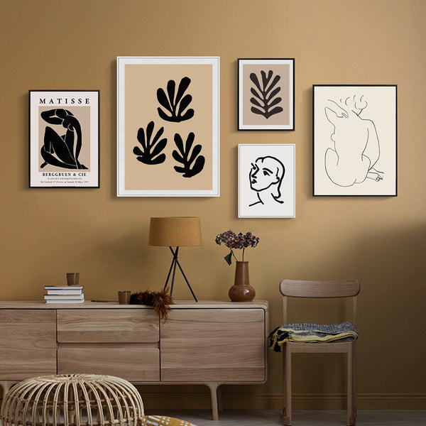 Matisse Vintage Abstract Series Canvas Prints-Heart N' Soul Home