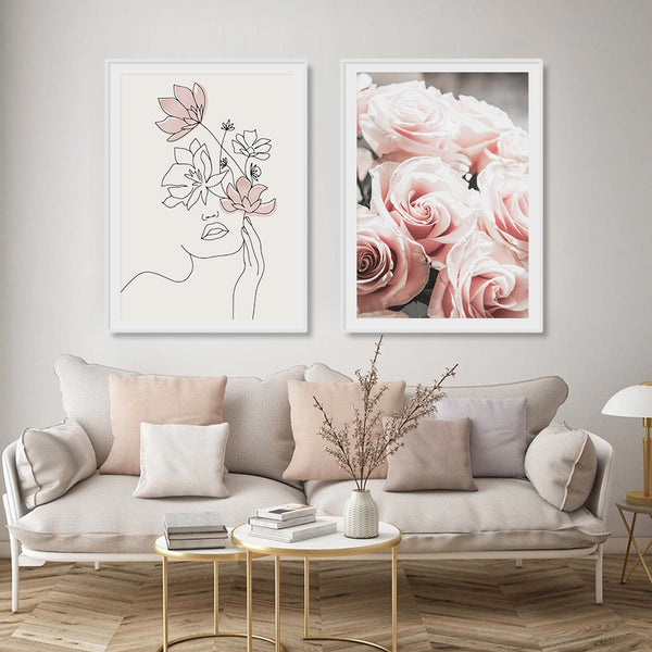Pink Lorelei Art Prints-Heart N' Soul Home