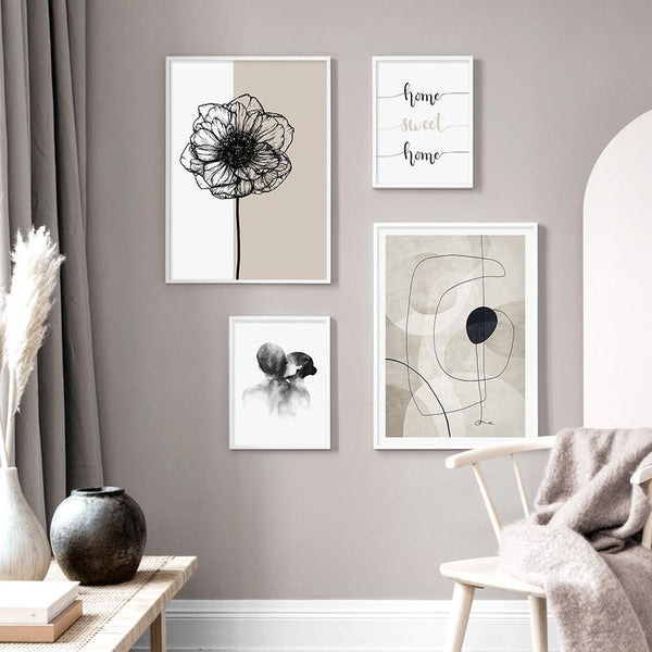 Beige Abode Series Art Prints-Heart N' Soul Home