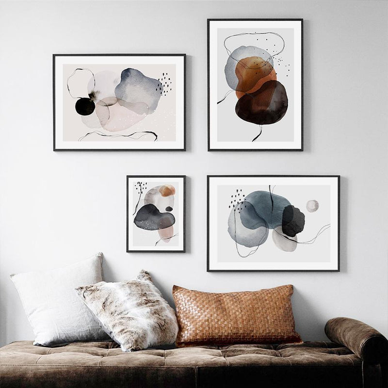 Harlow Abstract Colorful Circles Art Prints-Heart N' Soul Home