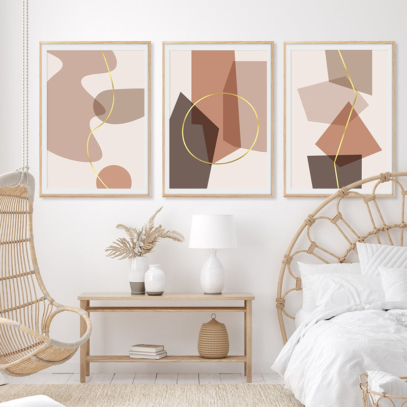 Addilynn Abstract Shapes Art Prints-Heart N' Soul Home