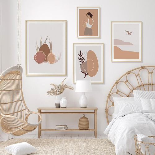 Earthy Color Illustrations Canvas Prints-Heart N' Soul Home