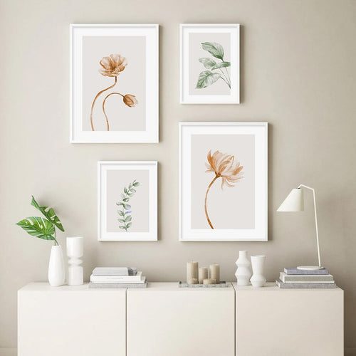 Minimalist Green Botanical illustrations Canvas Prints-Heart N' Soul Home