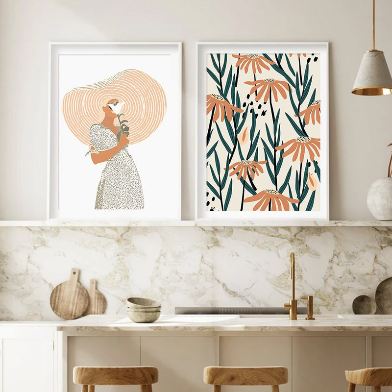 The Spring Girl Canvas Prints-Heart N' Soul Home