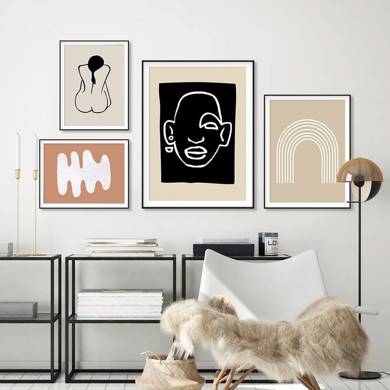 Koami Abstract Bohemia Style Canvas Prints-Heart N' Soul Home