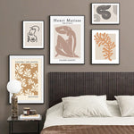 Matisse Abstract Art And Leaf Silhouette Canvas Prints