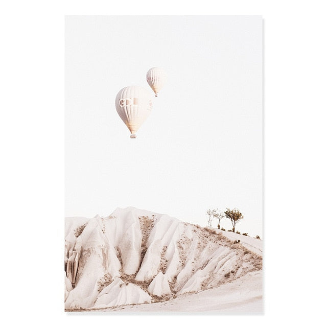 Bohemia Hot Air Balloons Pottery Canvas Print