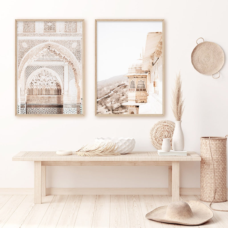 Beige Marrakesh Canvas Print