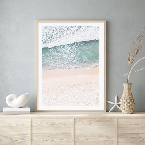 White Ocean Wave Canvas Prints
