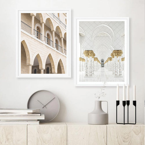 White Mosque Canvas Prints