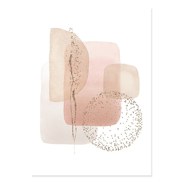 Leyla Abstract Canvas Prints