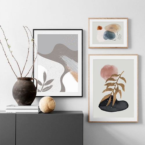 Willow Pair Abstract Canvas Prints