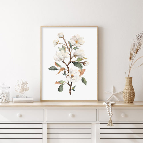 Magnolia Blossoms Canvas Prints
