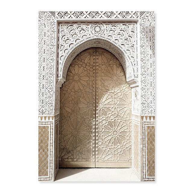 Moroccan Style Ancient Gate And Greek Island