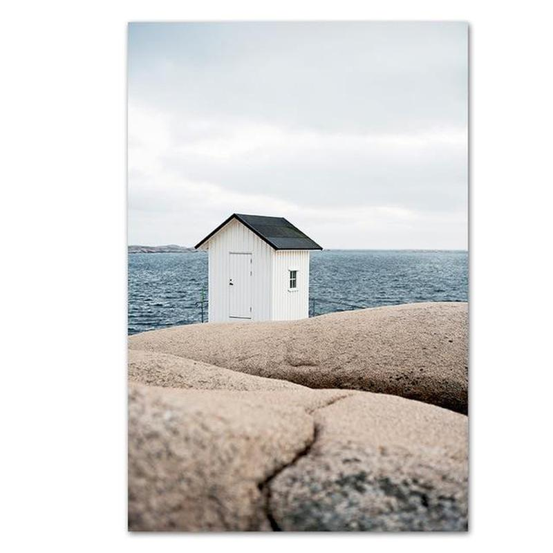 Quiet Lakeside And Beach House Canvas Prints-Heart N' Soul Home-15x20 cm no frame-Beach House-Heart N' Soul Home