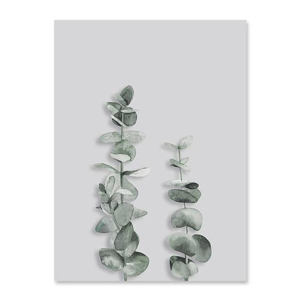 Scandinavian Style Eucalyptus Leaves Canvas Prints-Heart N' Soul Home-60x90 cm no frame-Picture C-Heart N' Soul Home