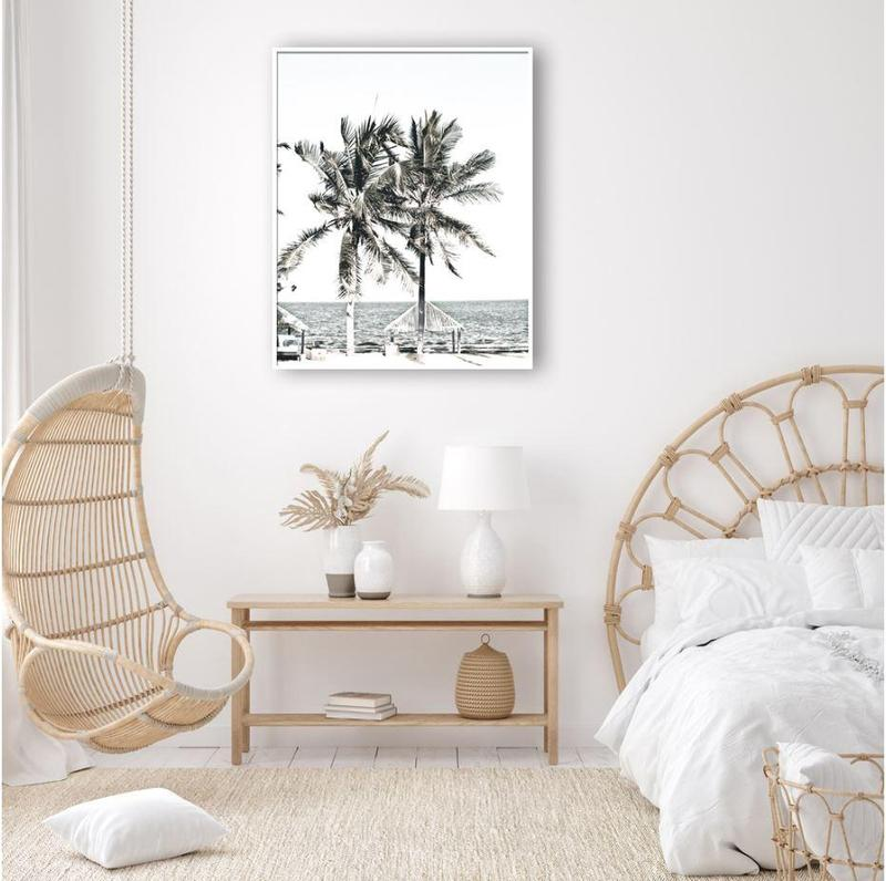 Palm Trees And Ocean Canvas Art Prints