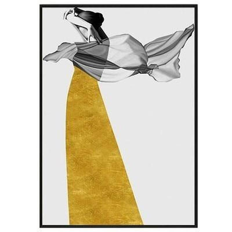 The Girl In The Yellow Dress Series Design B Canvas Print-Heart N' Soul Home-10x15 cm no frame-Heart N' Soul Home