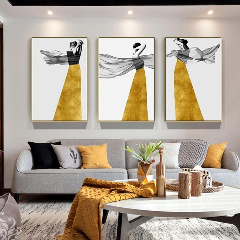 The Girl In The Yellow Dress Series Design D Canvas Print-Heart N' Soul Home-Heart N' Soul Home
