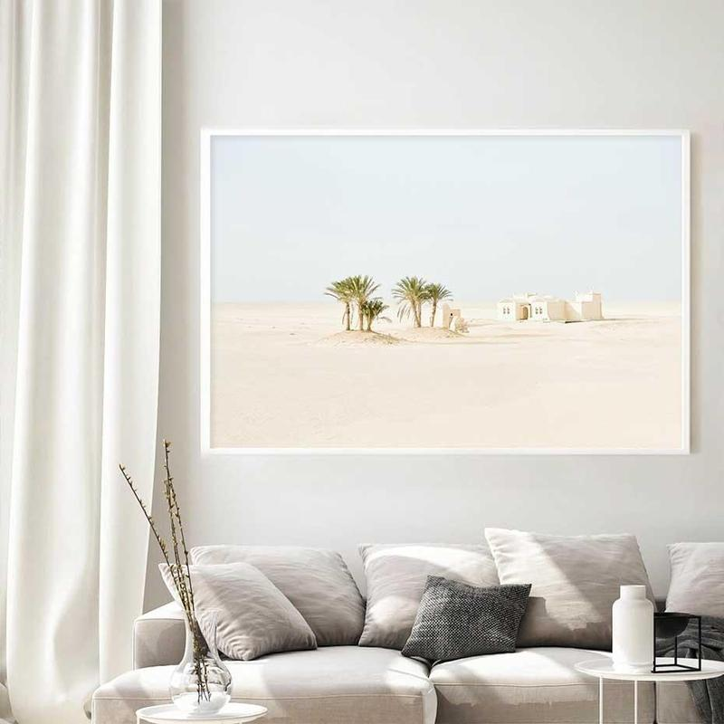 White desert Canvas Print-Heart N' Soul Home