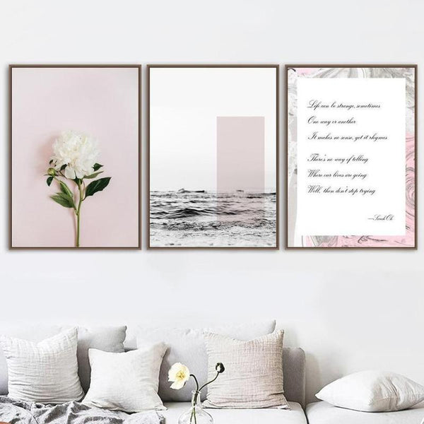 White Flower / Quotes Canvas Painting Prints-Heart N' Soul Home-Heart N' Soul Home