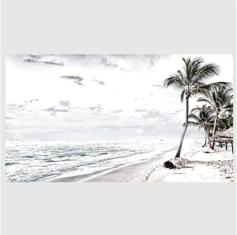 White Seascape Art Print-Heart N' Soul Home