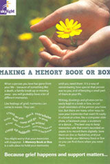 Information leaflet series for Young people (11-16yrs): Making a Memory book or box