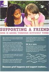 Information leaflet series for Young people (11-16yrs): Supporting a Friend through difficult times