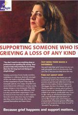 Information leaflet series for adults: Supporting Someone Who Is Grieving a Loss of Any Kind
