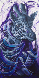 """Purple Party Giraffe"""