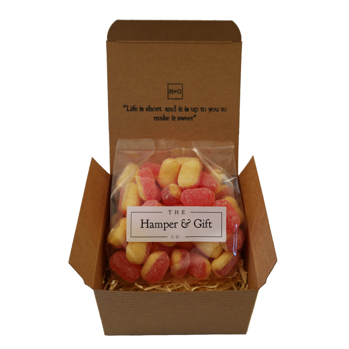 Rhubarb & Custard Sweet Gift Box - Gluten Free & Vegan Vegetarian Friendly