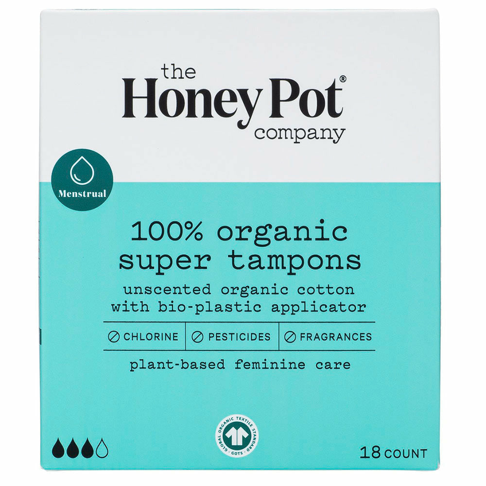 The Honey Pot Organic Super Tampons