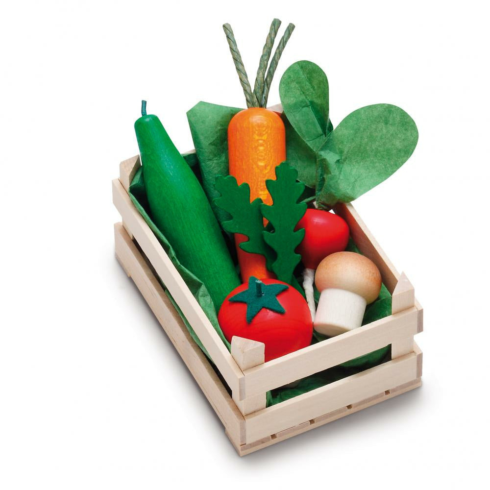 Erzi Play Food - Assorted Veggies with Crate (Small)