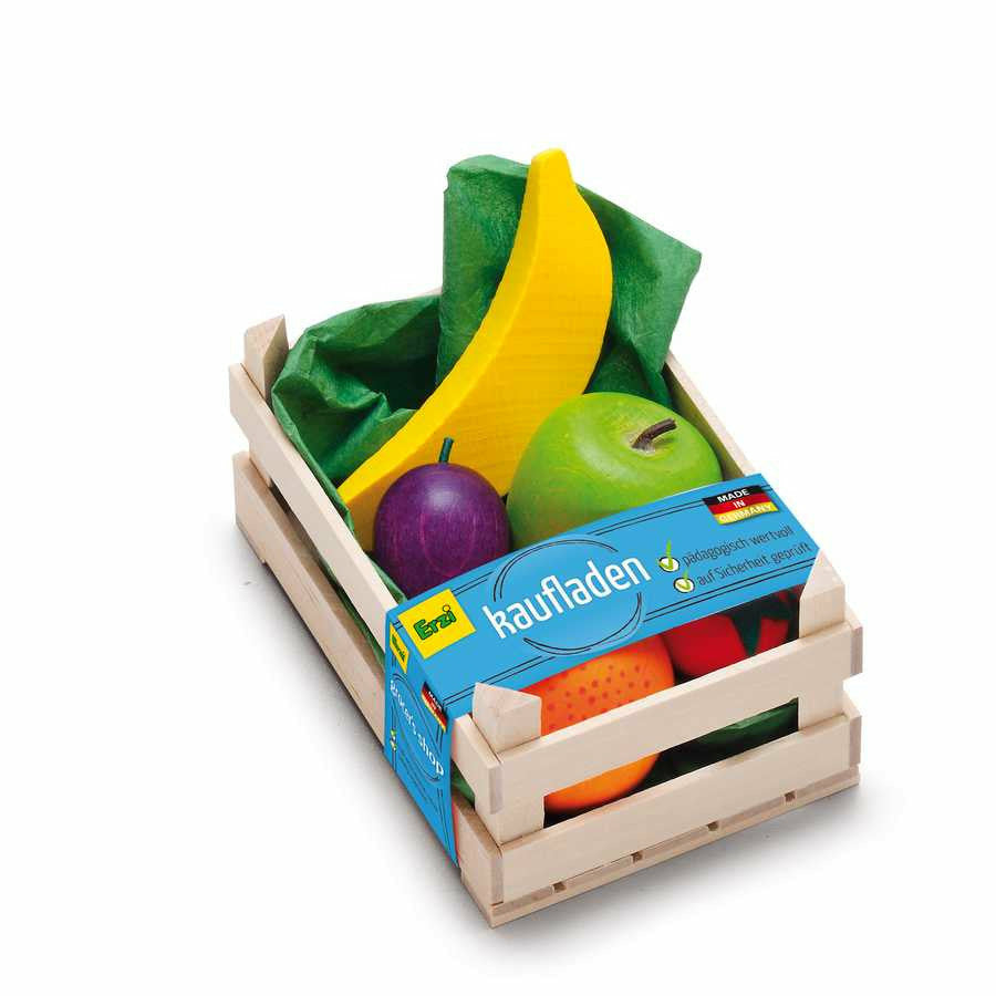 Erzi Play Food - Assorted Fruits in Crate (Small)