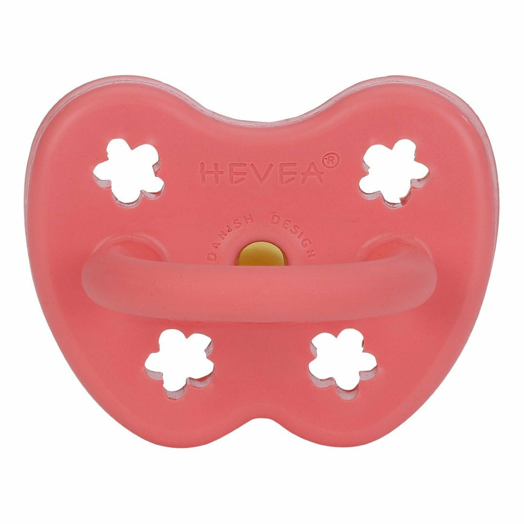 Hevea Orthodontic Pacifier - Coral