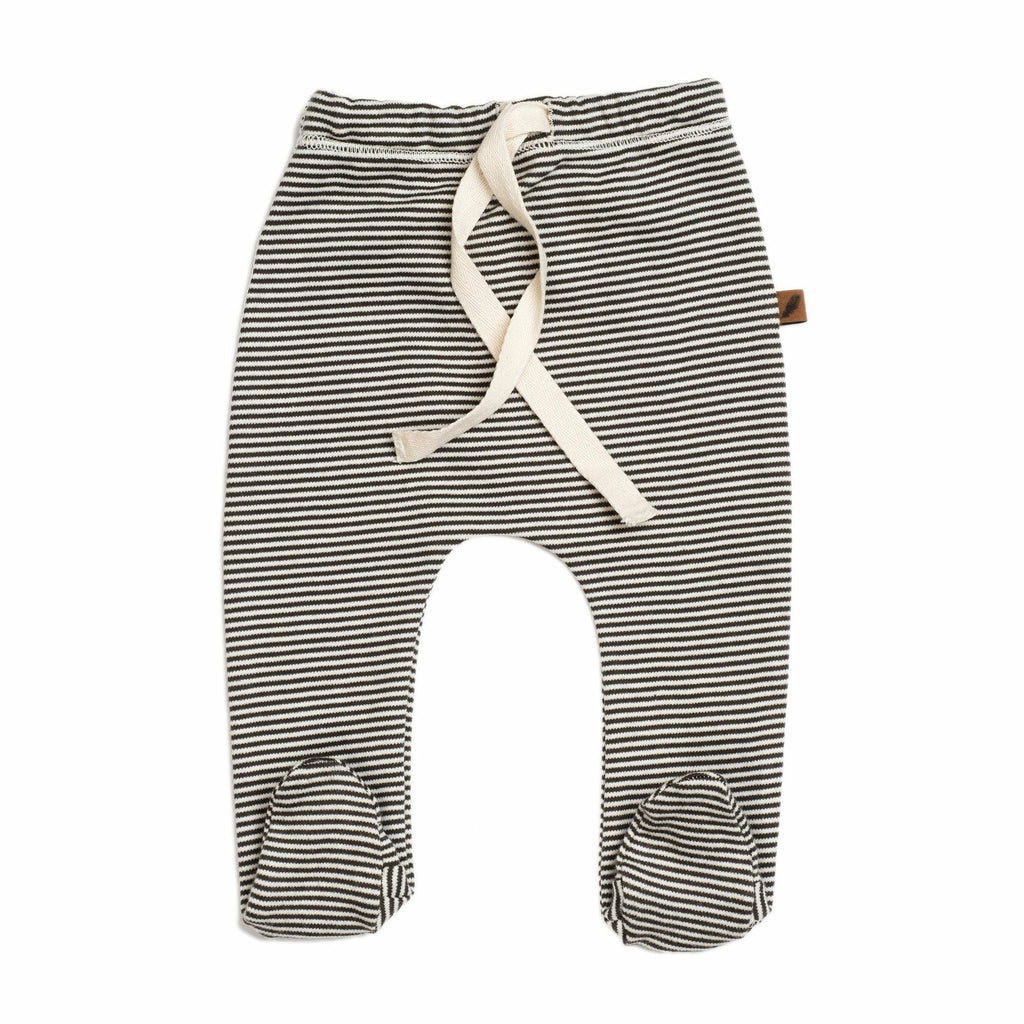 KidWild Organics Footed Pants - Stripes