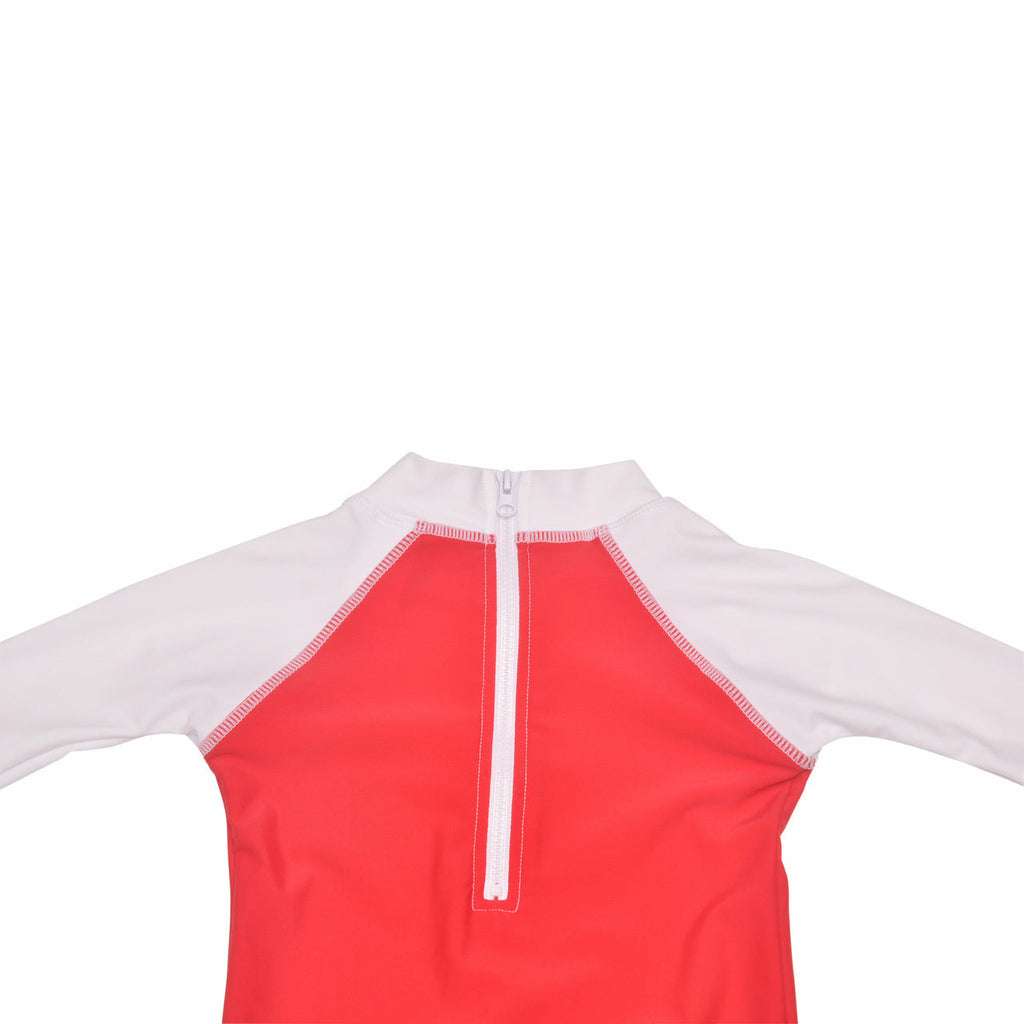 Flap Happy Rash Guard Suit with Snap