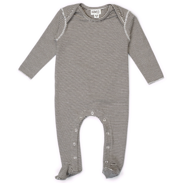 KidWild Organics Long Sleeve Footed Jumpsuit