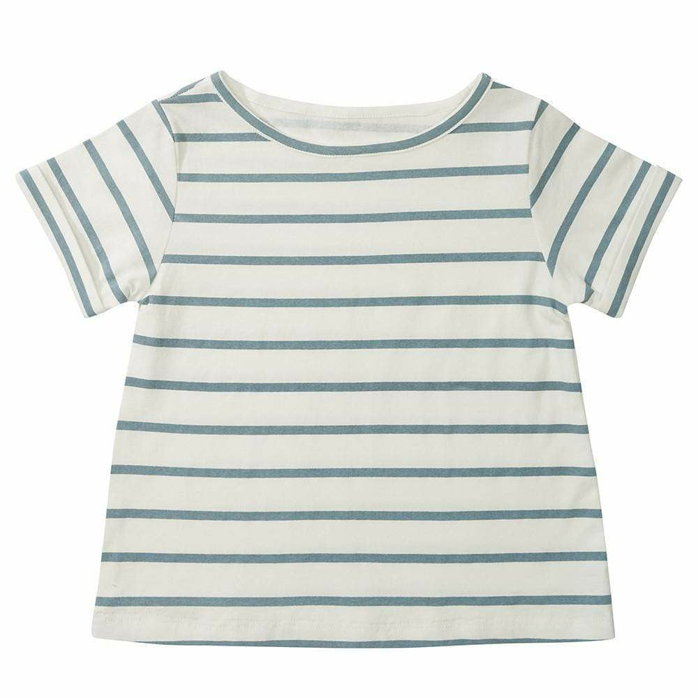 Dotty Dungarees Blue Stripe Summer T-Shirt