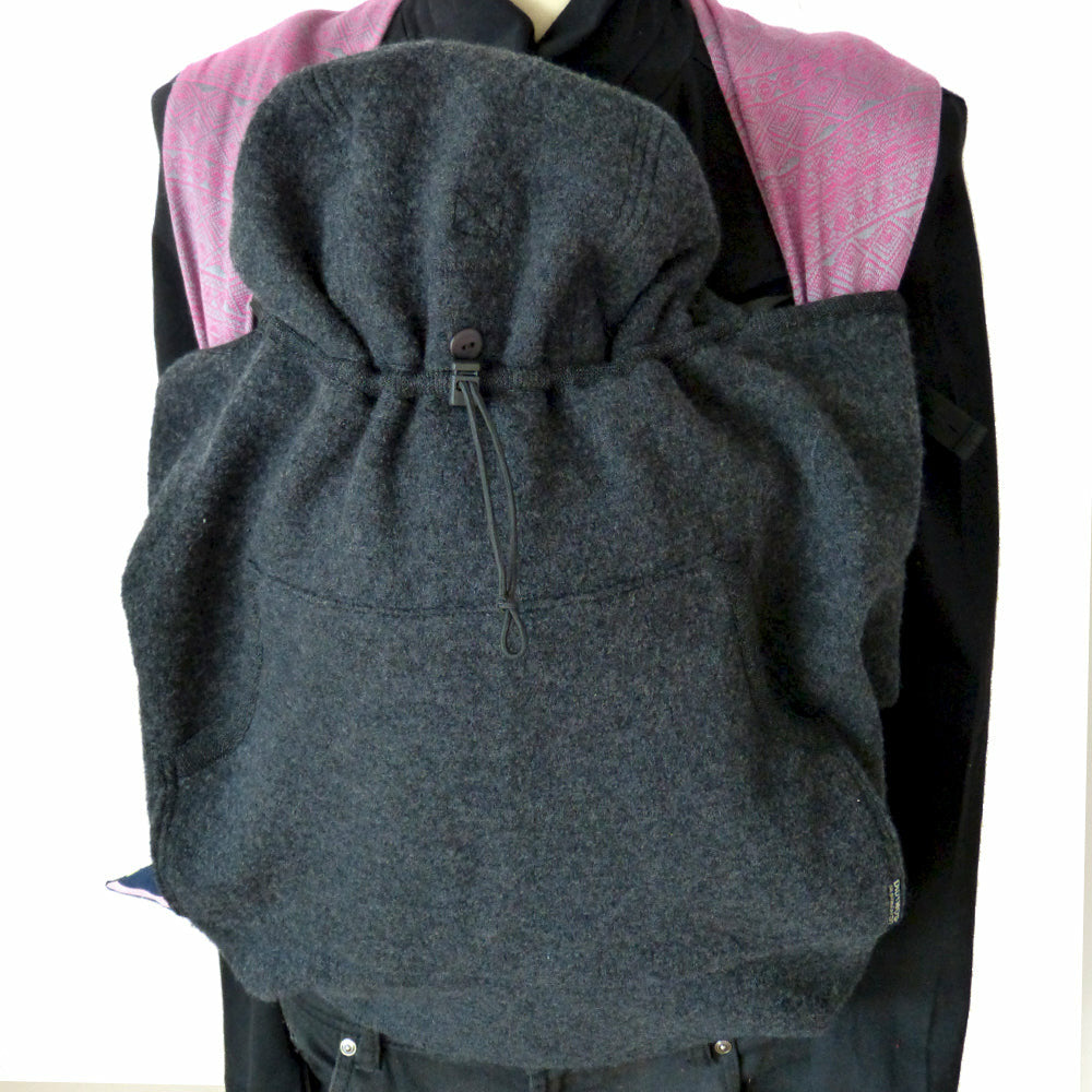 didymos babydos boiled wool baby carrier cover anthracite - Carrier Cover